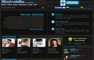 web de musica online